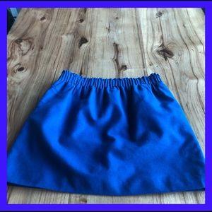 J Crew cobalt blue gathered waist skirt. Size 6